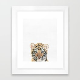 Tiger, Baby, Animal, ZOO, Safari, Nursery, Minimal, Modern, Wall art Art Print Framed Art Print