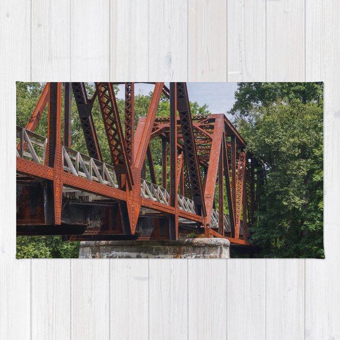 West Virginia Train Bridge Rug