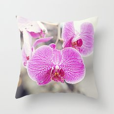 Orchid Hush  Throw Pillow