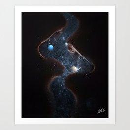 Universe kiss Art Print