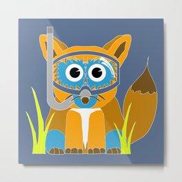 Blue Snorkel Fox Metal Print