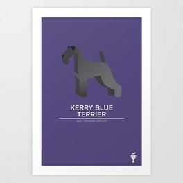 Kerry Blue Terrier Art Print