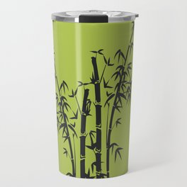Bamboo Tree black Graphic green Travel Mug