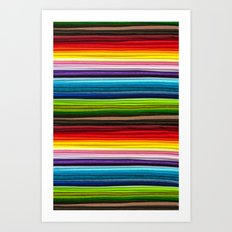 Indian Summer Colors Stripe Art Print