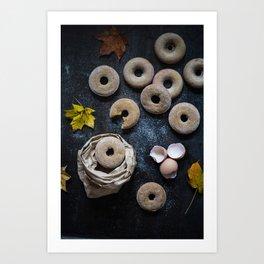 Autumn Donuts Art Print