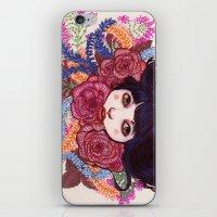 sandra dieckmann iPhone & iPod Skins featuring Sandra by Magali Almada