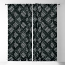 Decoish - White on Black - Set 3 Blackout Curtain