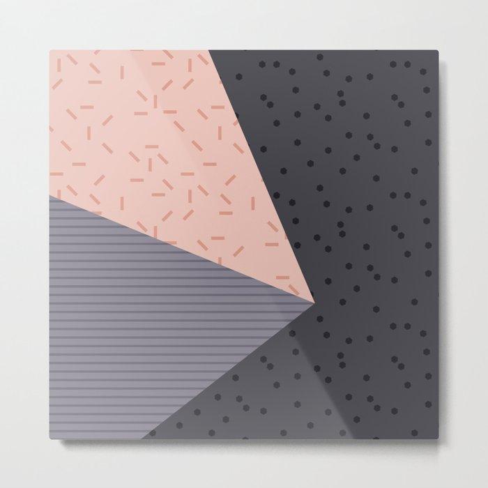 Geometry Blocks 8 Metal Print