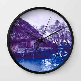 Nature in Winter, Lake Snow Landscape Wall Clock