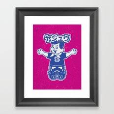 Totem: Mascot & Street Trooper (Navy Magenta) Framed Art Print