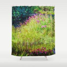 Monet's creek Shower Curtain