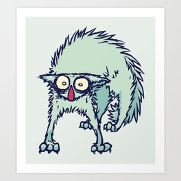 Freaked out Cat Art Print