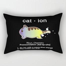 Biology Anime Cat Ion Kitty Kitten Chemistry Gift Rectangular Pillow