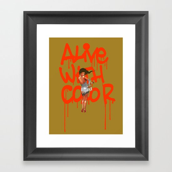 Alive with Color Framed Art Print