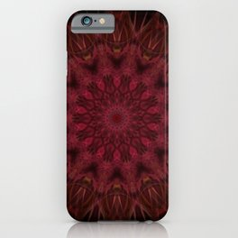 red mandal flower iPhone Case