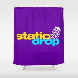 Static drop v3 HQvector Shower Curtain