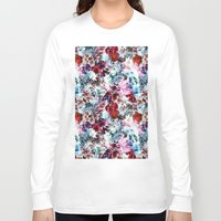 floral pattern Long Sleeve T-shirts featuring Floral Pattern by Eduardo Doreni