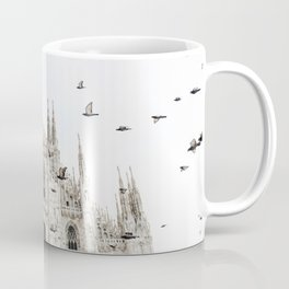 Pigeons around the duomo di milano Coffee Mug