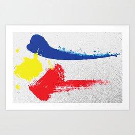 Philippine flag Filipino Gritty brushstroke Art Print