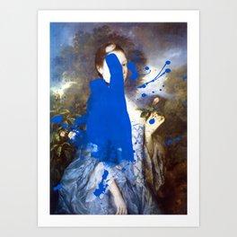Blue Bomb Kunstdrucke