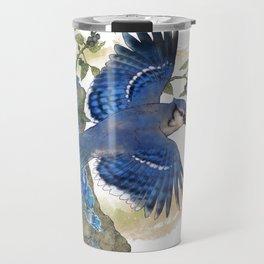 Blue Jay and Hauyne Crystals Travel Mug