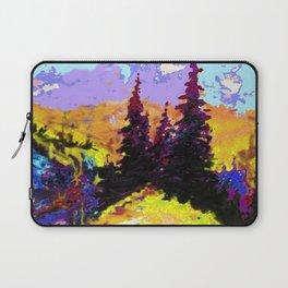 Decorative Abstract Blue Purple Landscape Art Laptop Sleeve