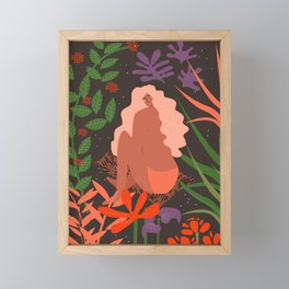 Girl in Botanic Garden Framed Mini Art Print