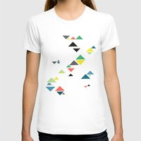 triangles T-shirts featuring Triangles by Cassia Beck