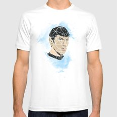 Spock White Mens Fitted Tee MEDIUM