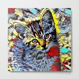 Color Kick - Kitten Metal Print