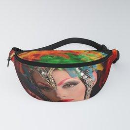 Drag Queen in Rainbow Headdress Fanny Pack
