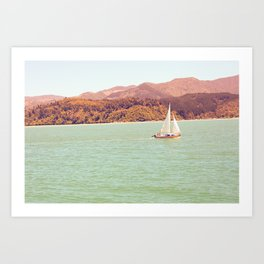New Zealand Sailing Art Print