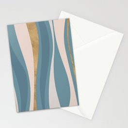 Blueprint Wavy Pattern 4 Stationery Cards