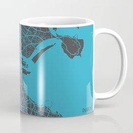 Dublin Map blue Coffee Mug