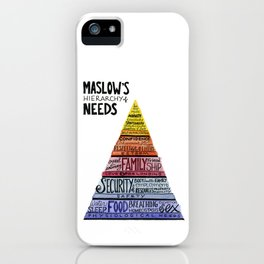 Maslow's Hierarchy of Needs iPhone Case