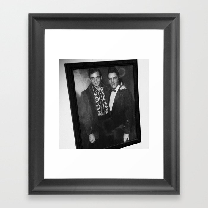 Johnny Cash and Elvis Presley Framed Art Print by thomasjarry | Society6