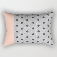 Shiny Polka Dots on Grey Melange Rectangular Pillow