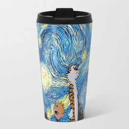 Calvin Hobbes Starry Night Travel Mug