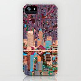 indianapolis city skyline purple iPhone Case