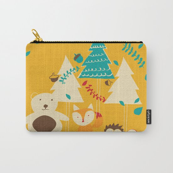 Woodland Christmas friends Carry-All Pouch