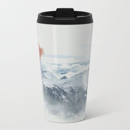 Beautiful Volcano Metal Travel Mug