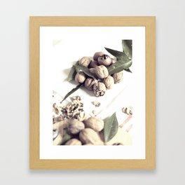 Food still life, macro photography, fine art for kitchen decor, home, interior design Framed Art Print