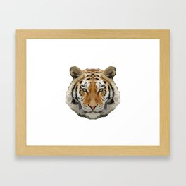Geometrical Tiger Head Silhouette Framed Art Print