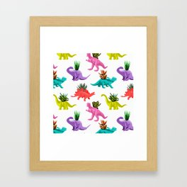 Dinosaur Planters Framed Art Print