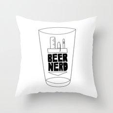 Beer Nerd Throw Pillow