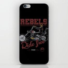 Ride free Rebels iPhone Skin