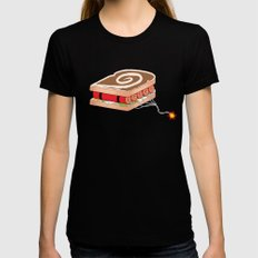 Dynamite Sandwich Black X-LARGE Womens Fitted Tee