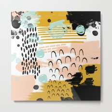 Ames - abstract painting hipster home decor trendy color palette art gifts Metal Print