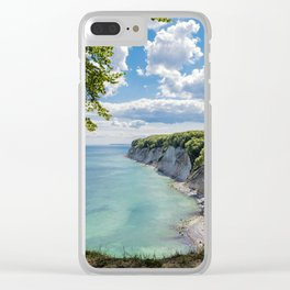 Chalk cliffs on the Baltic Sea coast Clear iPhone Case