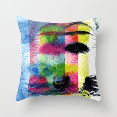 Matter, better suited for the face, not the heart. [CMYK] Throw Pillow